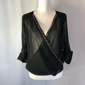 Truth NYC Tops - Truth blouse with beaded accents sz.small NWOT